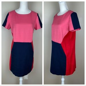 Boden Red/Blue/Pink mini cotton dress. Size 10.
